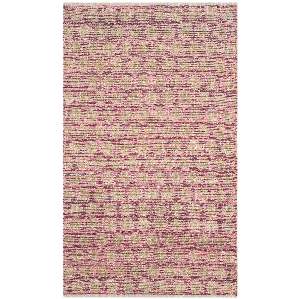 Safavieh Cape Cod Maroon Natural 3 Ft X 5 Ft Area Rug