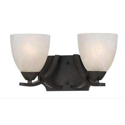 Warna 2-Light Bronze Bath Vanity Light