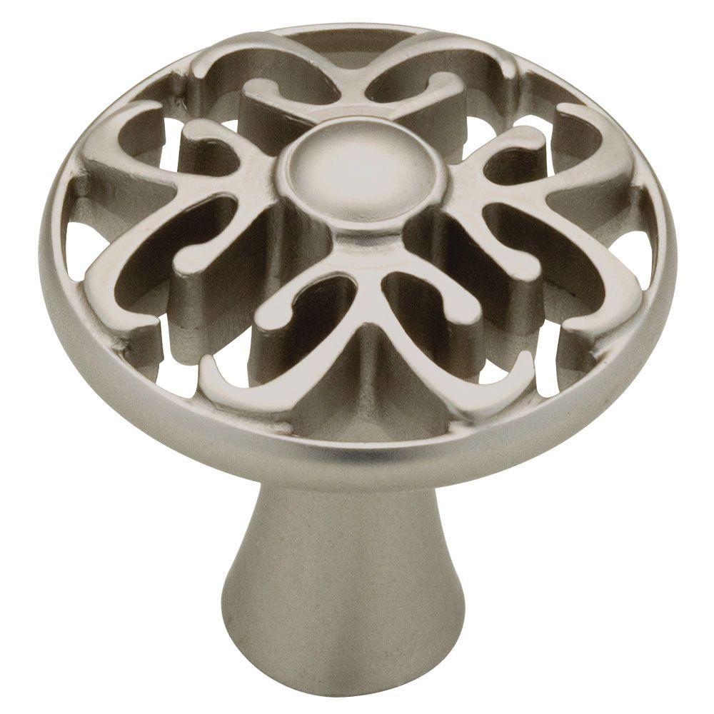 Panache 1-1/4 in. (32 mm) Matte Nickel Round Cabinet Knob