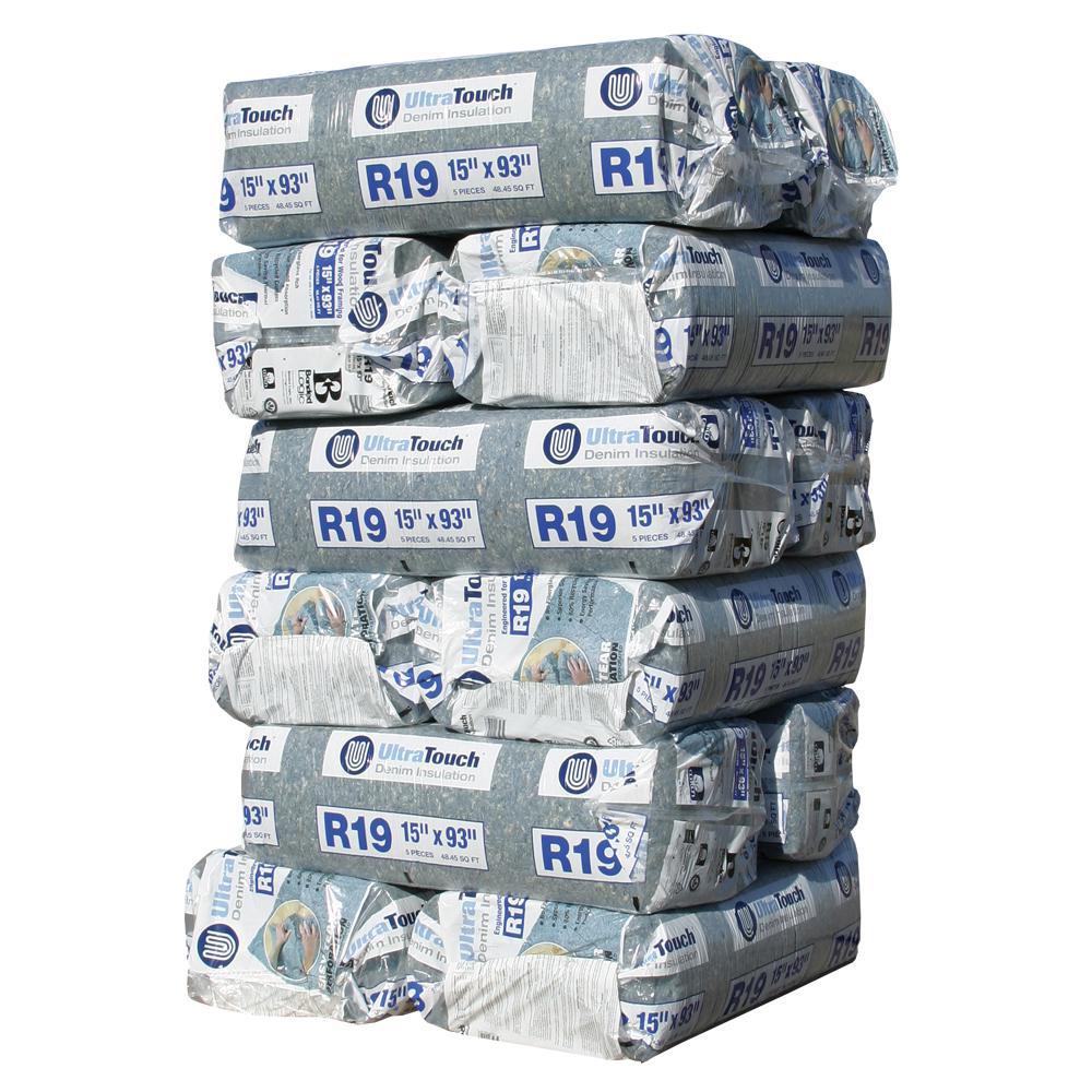 R-19 Denim Insulation Batts 15 in. x 93 in. (12-Bags)