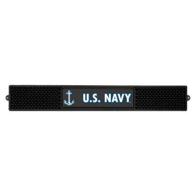 3.25 in. x 24 in. Black U.S. Navy Drink Mat