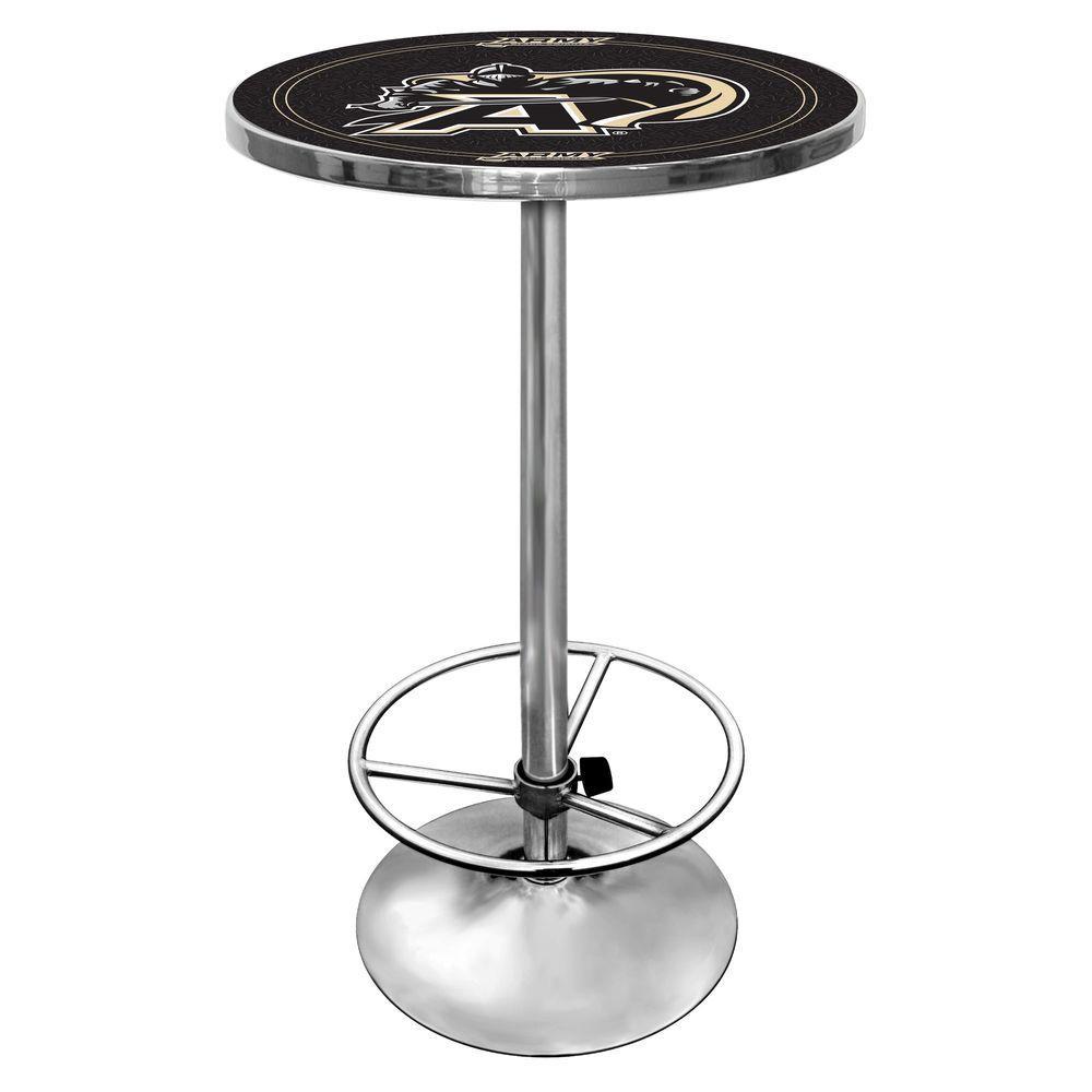 Trademark Army Black Knights Chrome Pub/Bar Table CLC2000-ARM