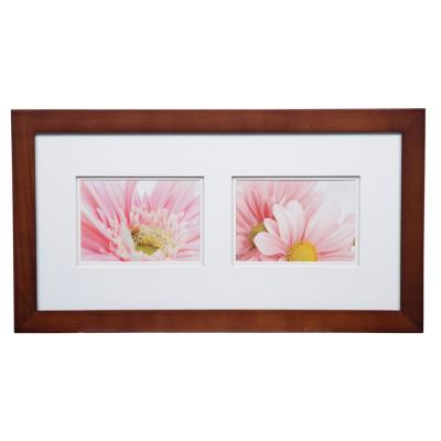 Gallery 5 in. x 7 in. Walnut Double Mat Picture Frame