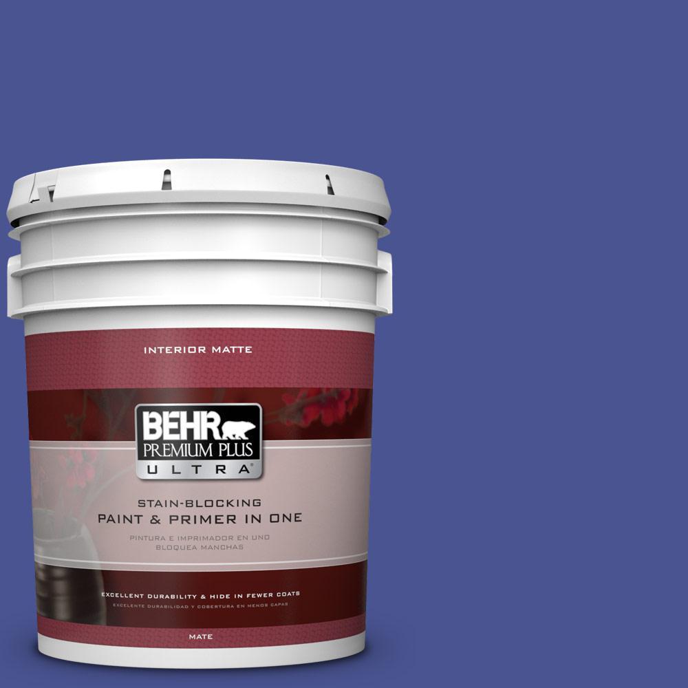 BEHR Premium Plus Ultra 5 gal. #P540-7 Canyon Iris Matte Interior Paint