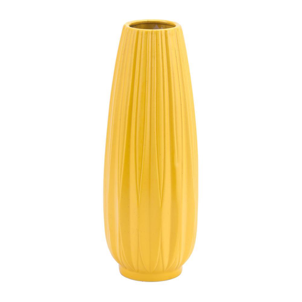 Yellow Acacia Large Decorative Vase