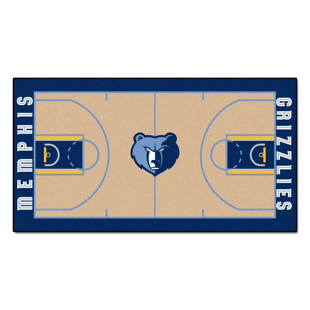 NBA Memphis Grizzlies 3 ft. x 5 ft. Large Court Runner Rug