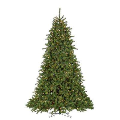 pre lit crystal pine artificial christmas tree with 1600 clear lights