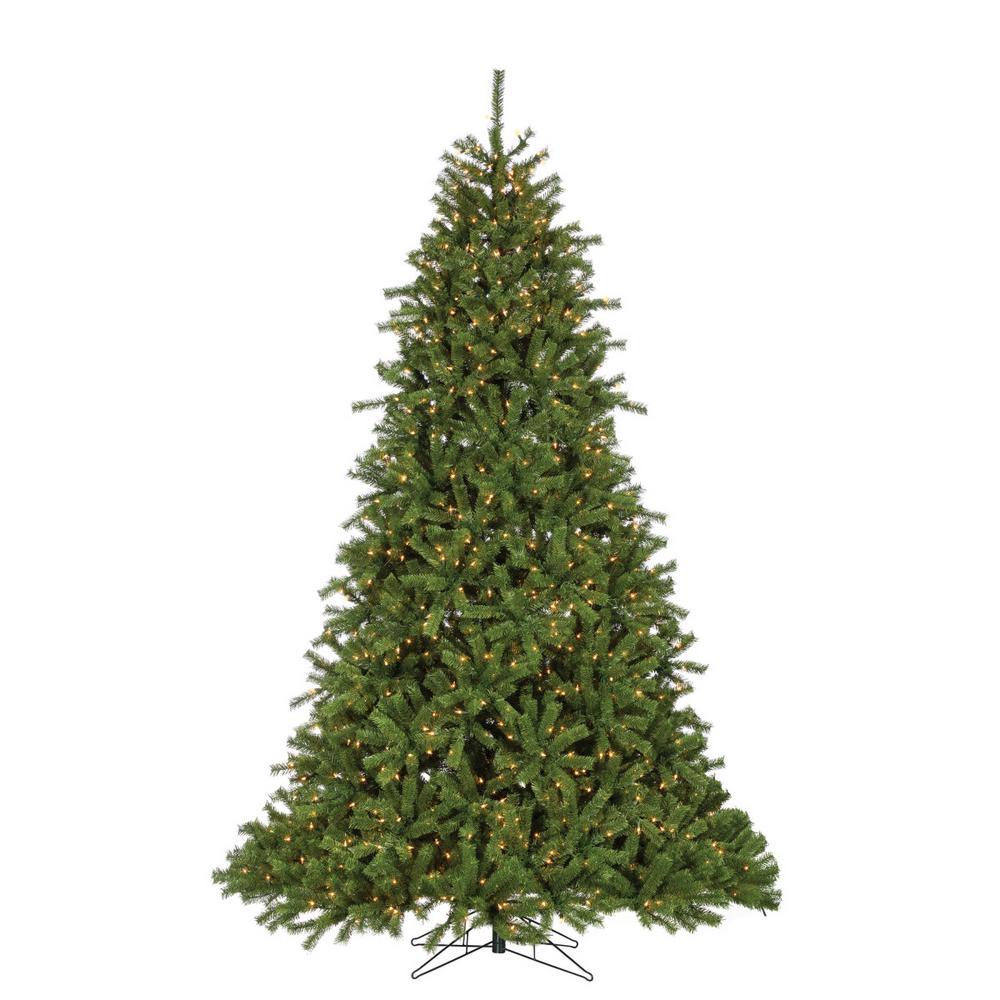 Pre Lit 9 Ft Christmas Tree: Sterling 9 Ft. Pre-Lit Crystal Pine Artificial Christmas