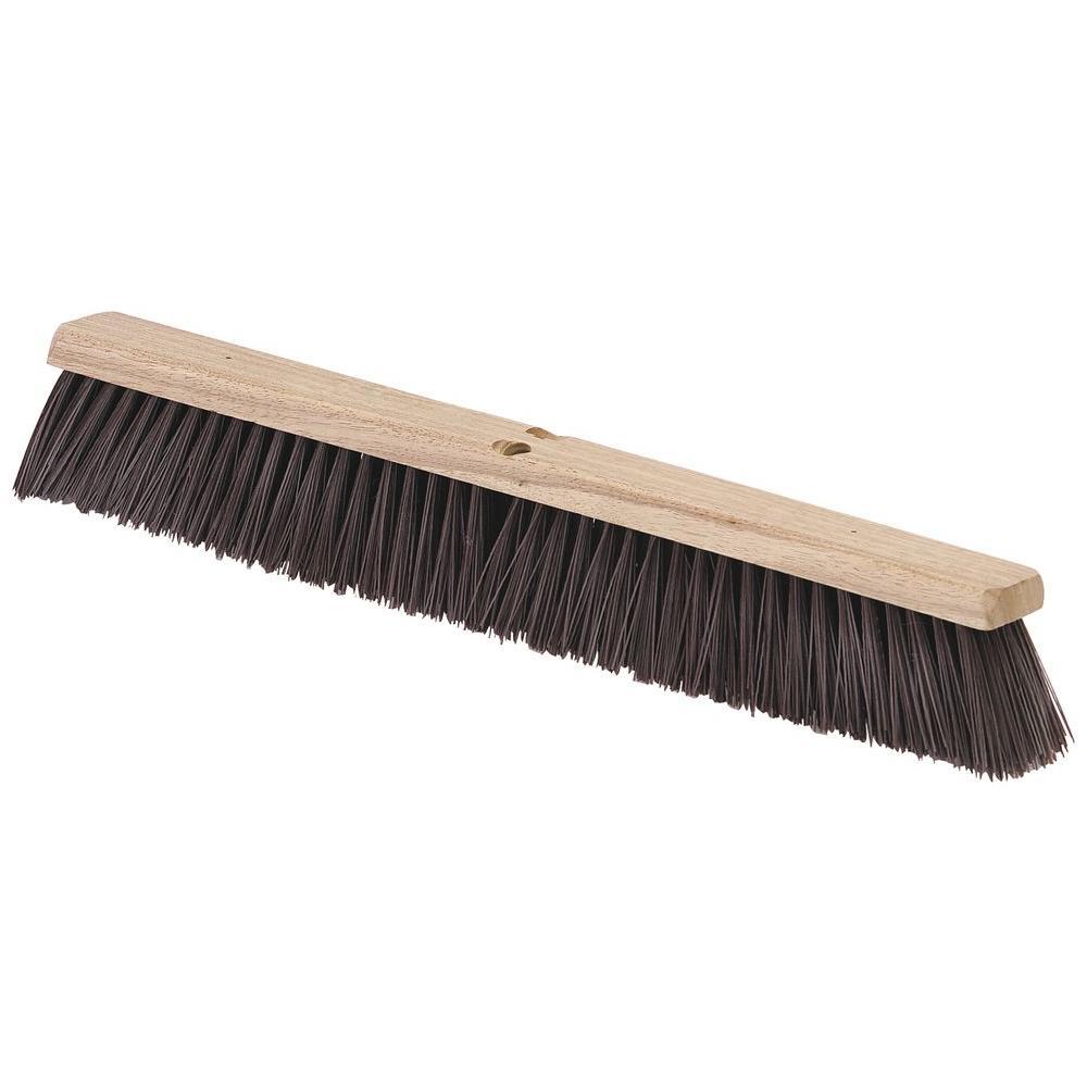 24 in. Polypropylene Floor Sweep Maroon (12-Pack)