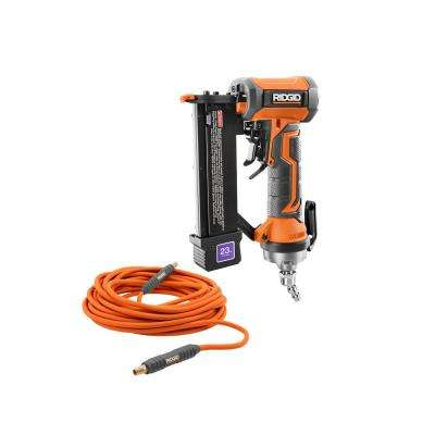 23-Gauge 1-3/8 in. Headless Pin Nailer with Dry-Fire Lockout with 1/4 in. 50 ft. Lay Flat Air Hose