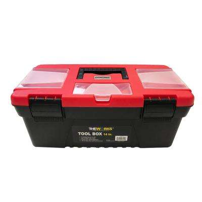 14 in. Tool Box with Removable Tool Tray