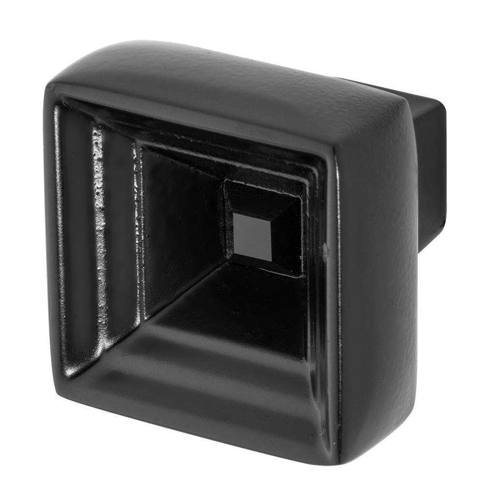 Hidden Treasure 1-1/16 in. Black with Black Crystal Cabinet Knob