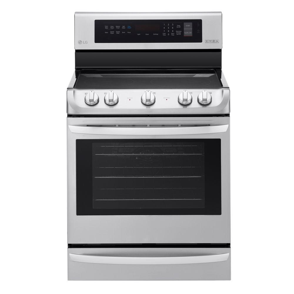 LG Electronics 6.3 cu. ft. Electric Range with ProBake Convection Oven in Stainless Steel, Silver LG Electronics 6.3 cu. ft. Electric Range with ProBake Convection Oven in Stainless Steel, Silver