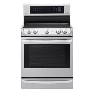LG Electronics 6.3 cu. ft. Electric Range with ProBake Convection Oven in Stainless Steel by LG Electronics
