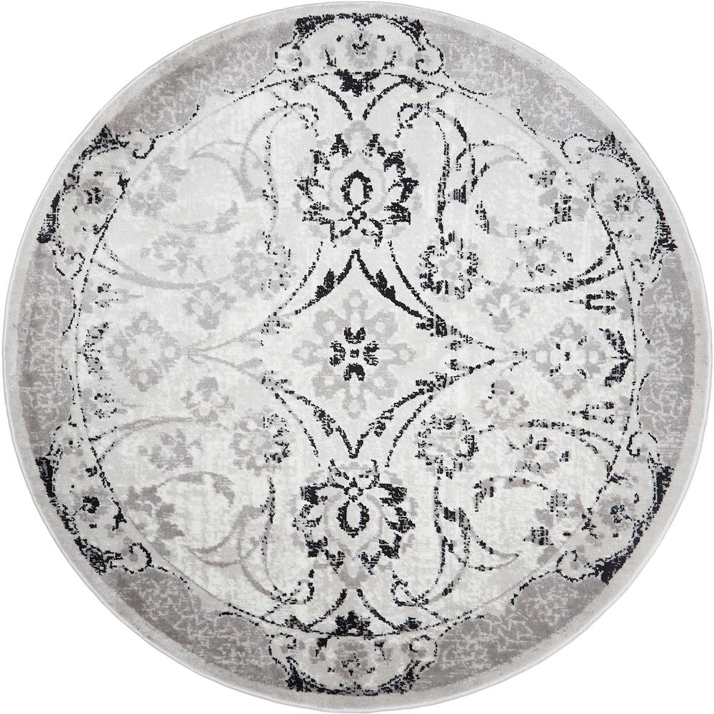 Boho Silver 7 Ft 10 In Indoor Round Area Rug