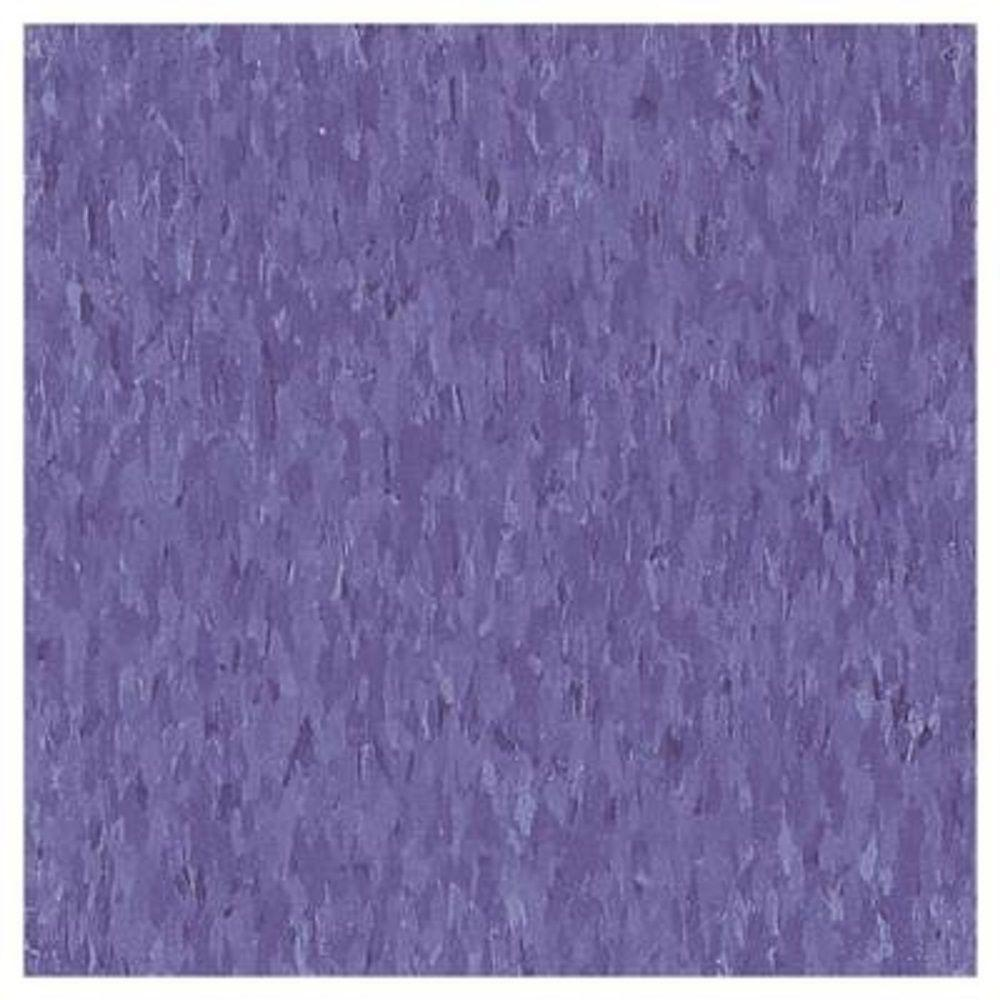 Take Home Sample Imperial Texture Vct Violet Bloom Limestone Standard Excelon Commercial Vinyl Tile 6 In X