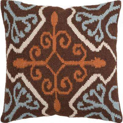 Baroque 22 in. x 22 in. Decorative Down Pillow