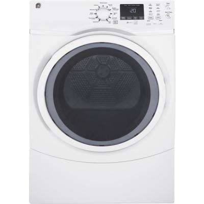 7.5 cu. ft. Capacity Front Load Gas Dryer with Steam in White