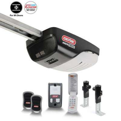 MachForce Plus XL 2 HPc Screw Drive Garage Door Opener for 8 ft. High Doors with Added Wireless Keypad
