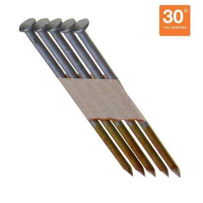 3-1/4 in. x 0.131 in. 30° Offset Round Head Hot Dipped Galvanized Smooth Shank Nails (1,000 per Pack)