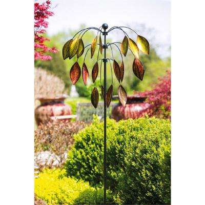 3-Tiered Tree 77 in. Kinetic Wind Spinner
