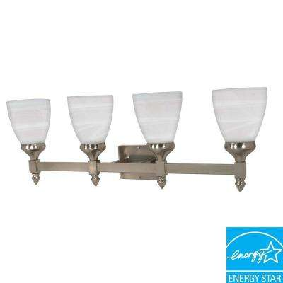4-Light Brushed Nickel Wall Vanity Light