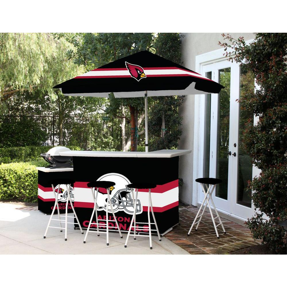 Best Of Times Arizona Cardinals All Weather Patio Bar Set With 6 Ft.  Umbrella