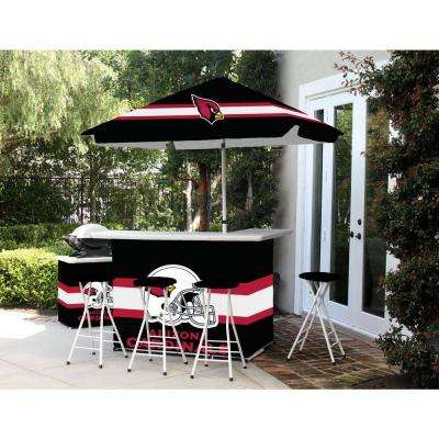 Arizona Cardinals All-Weather Patio Bar Set with 6 ft. Umbrella