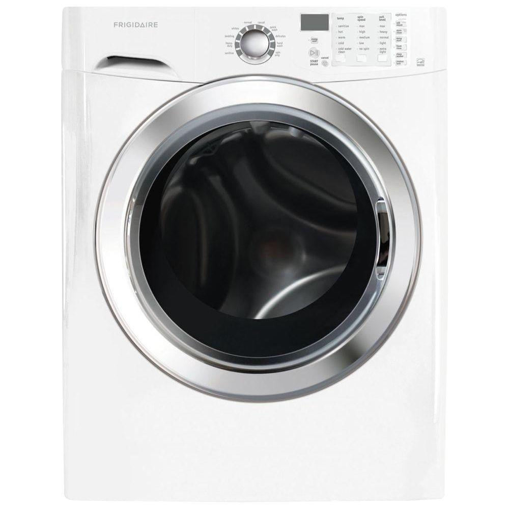 Frigidaire 3.9 cu. ft. High-Efficiency Front Load Washer with Steam in Classic White, ENERGY STAR