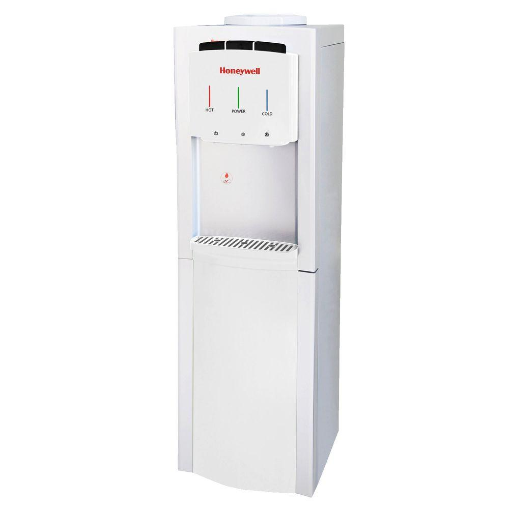Freestanding Top-Loading Hot/Room/Cold Water Dispenser with Cabinet and