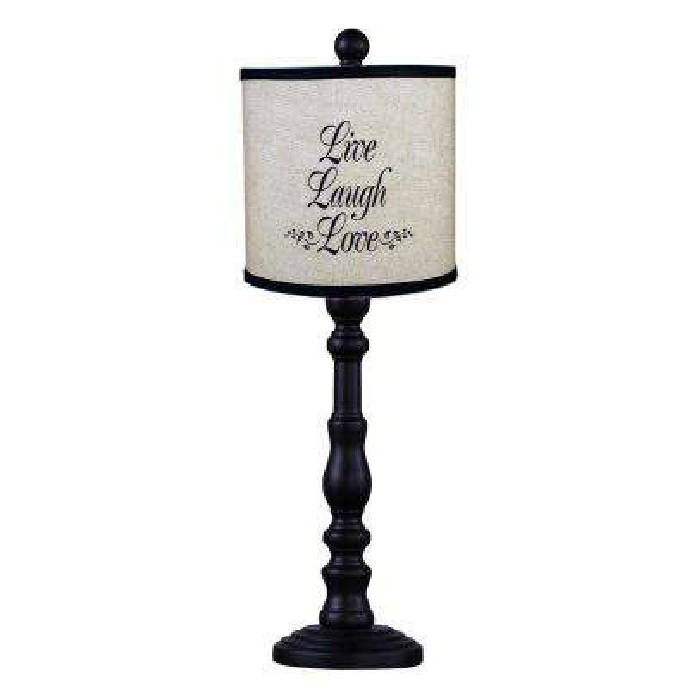 21 in. Black Table lamp