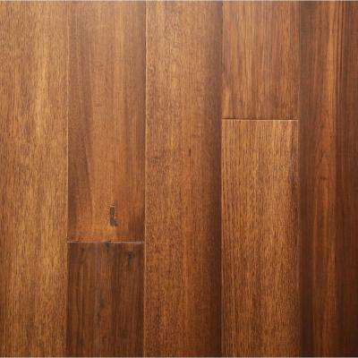 Take Home Sample - Burnished Saddle Engineered Rigid Core Hardwood Flooring - 5.12 in. Wide x 6 in. Length