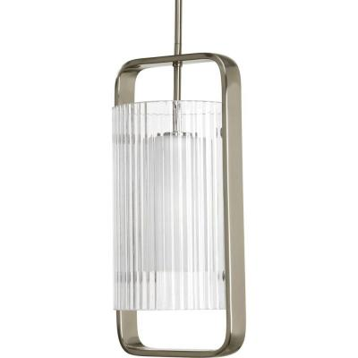 Coupe Collection 1-Light Brushed Nickel Outdoor Hanging Lantern