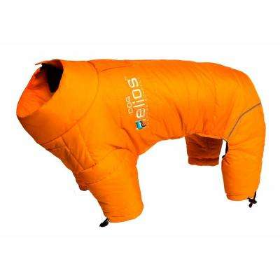 X-Large Sporty Orange Thunder-crackle Full-Body Waded-Plush Adjustable and 3M Reflective Dog Jacket