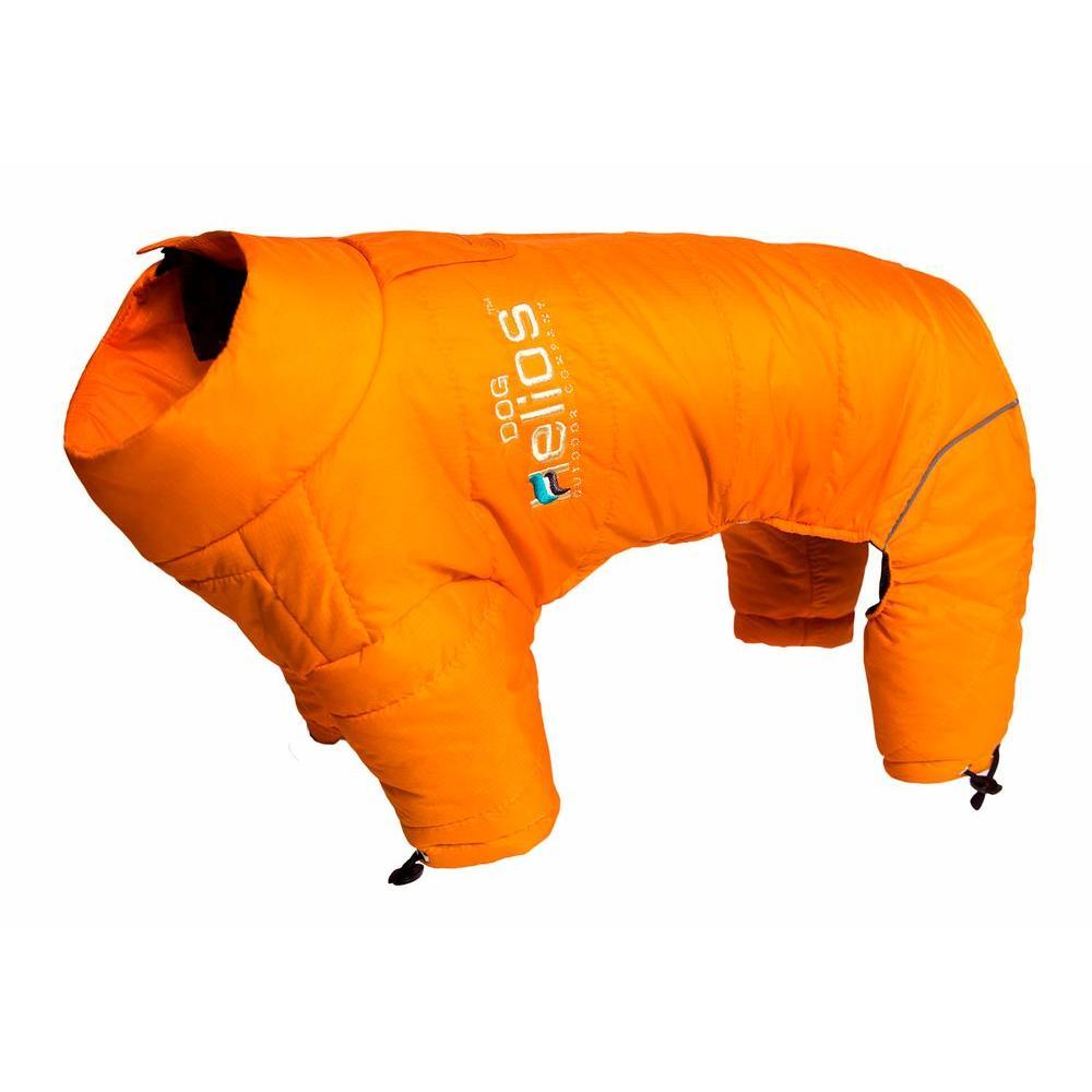 Medium Sporty Orange Thunder-Crackle Full-Body Waded-Plush Adjustable and 3M Reflective Dog Jacket