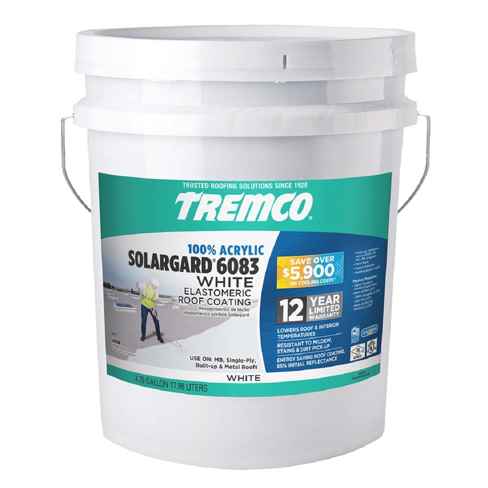 Tremco 4.75 Gal. SolarGard 6083 Acrylic Elastomeric Roof Coating