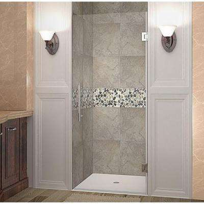 Cascadia 30 in. x 72 in. Completely Frameless Hinged Shower Door in Chrome with Clear Glass