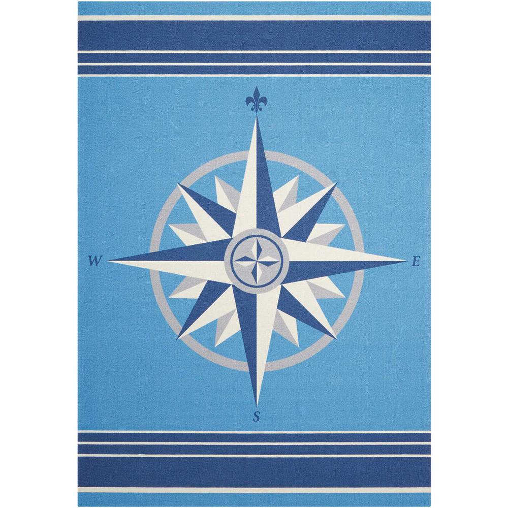 Waverly Sailing Blue 8 ft. x 11 ft. Indoor/Outdoor Area Rug