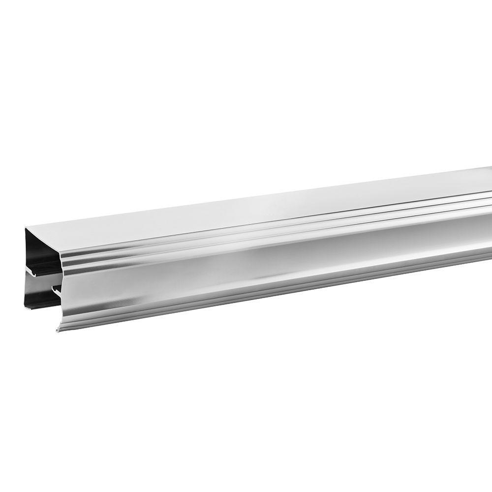 60 in. Semi-Frameless Traditional Sliding Bathtub Door Track Assembly Kit in Chrome