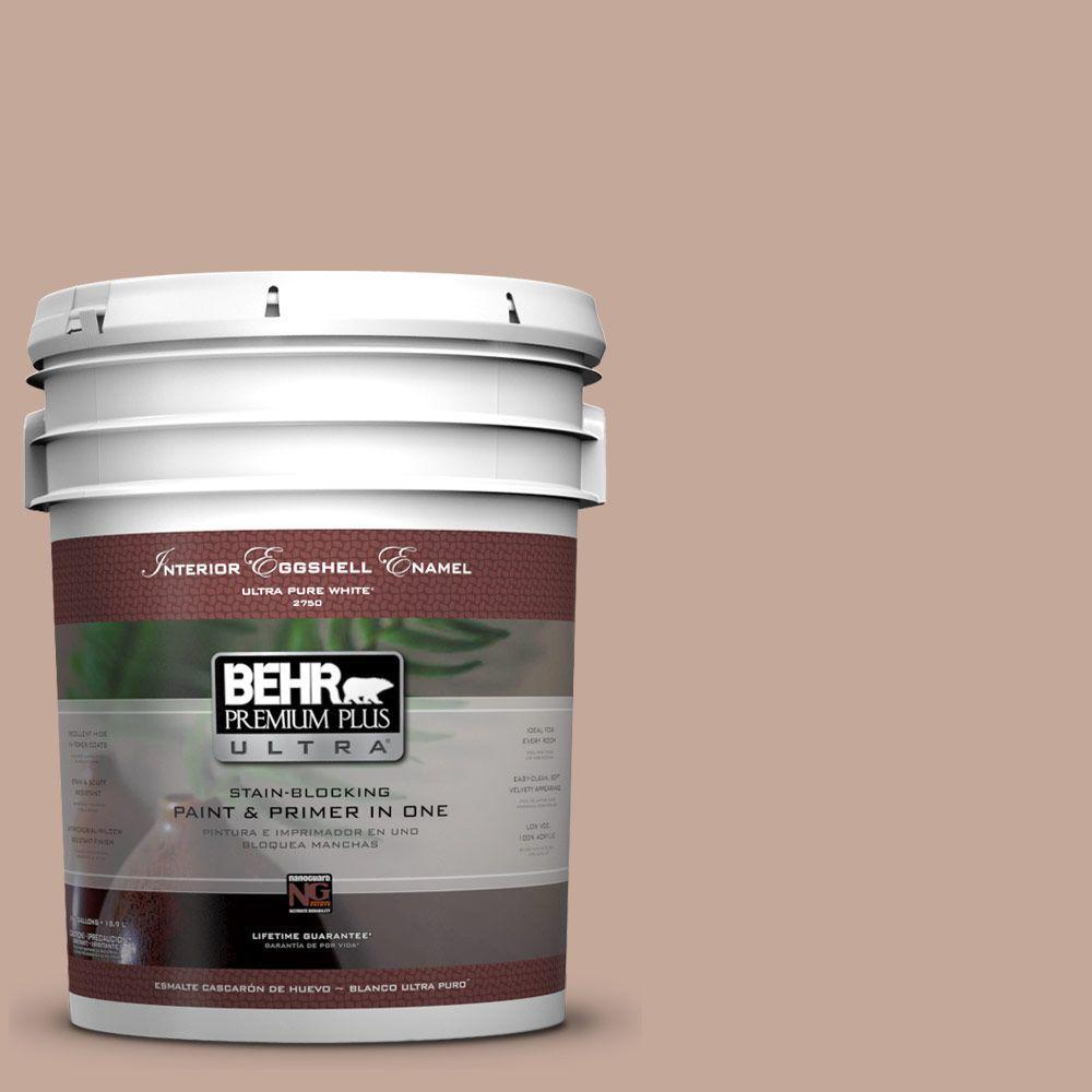 BEHR Premium Plus Ultra 5-gal. #760B-4 Adobe Straw Eggshell Enamel Interior Paint