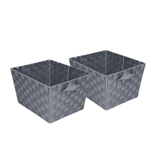 16.6 Qt. 10 in. x 8 in. Woven Storage Basket (2-Pack)