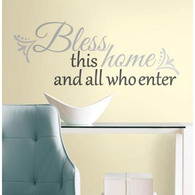10 in. x 18 in. Bless this Home 25-Piece Peel and Stick Wall Decals