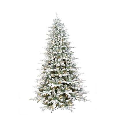 7.5 ft. Pre-Lit LED Frosted Artificial Christmas Tree with 450 G12 Warm White Lights