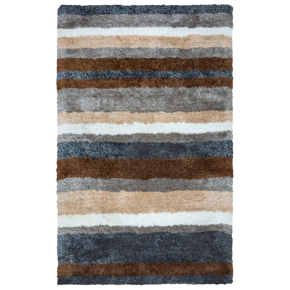 Commons Multicolor Polyester Shag 9 ft. x 12 ft. Area Rug