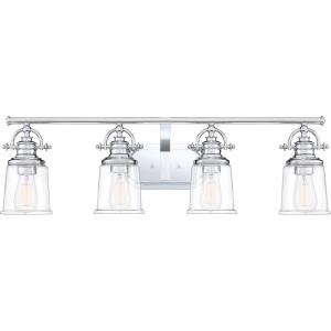 Grant 4-Light Polished Chrome Vanity Light