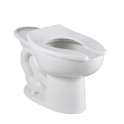 Madera FloWise 16-1/2 in. High EverClean Slotted Rim Back Spud Elongated Flush Valve Toilet Bowl Only in White