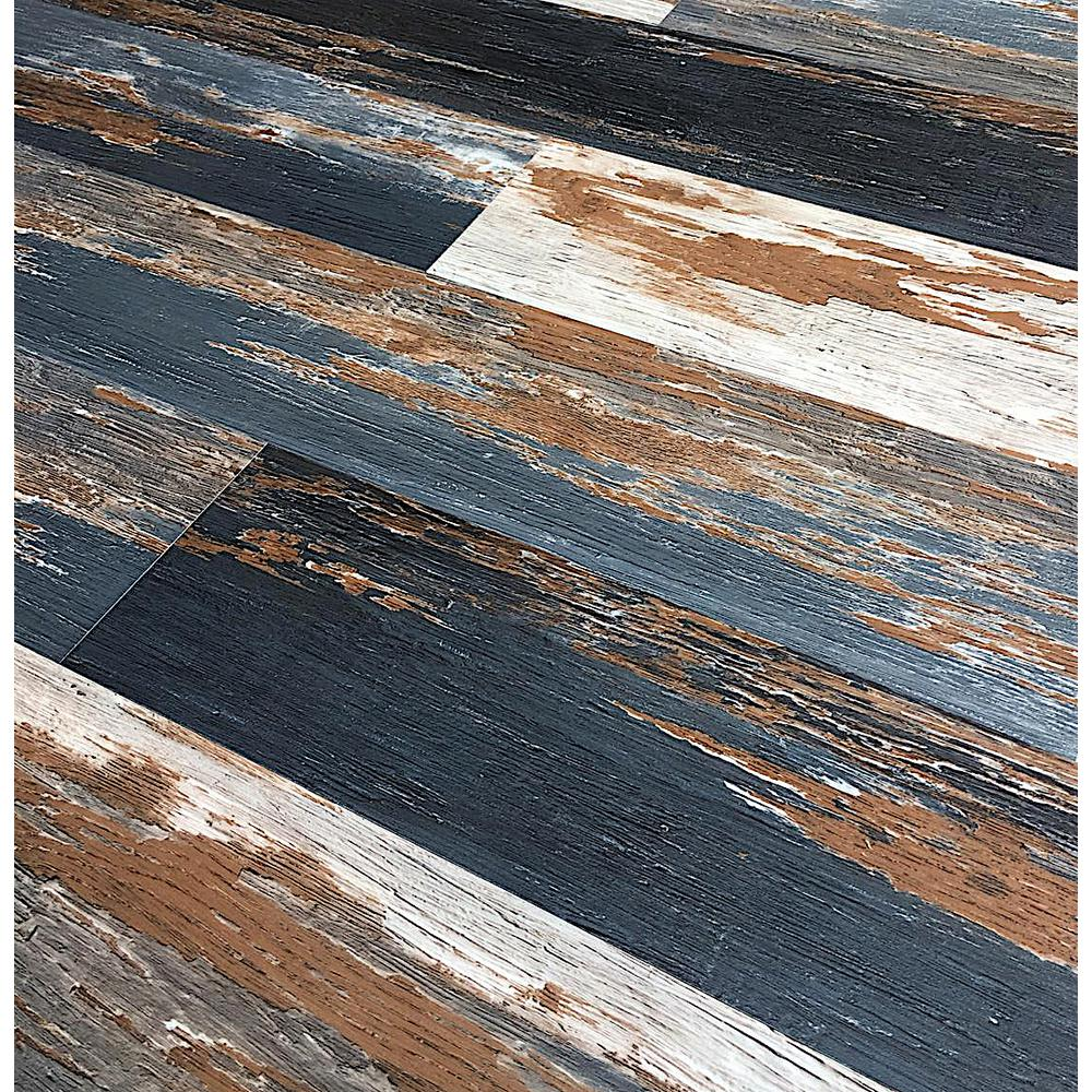 Deco Products Colors Floor and Wall Old Black Smoke 6 in. x 36 in. Multi-Tonal Glue Down Luxury Vinyl (2400 sq.ft./80 cases/pallet)