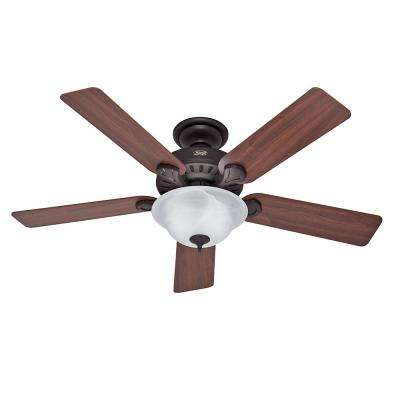 Cedonia 52 in. Indoor New Bronze Ceiling Fan with Light Kit and Handheld Remote Control