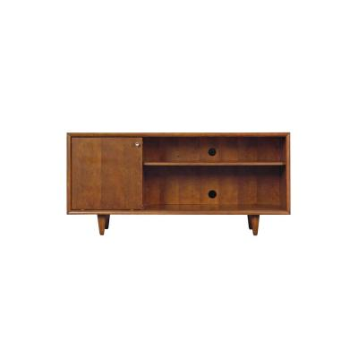 Fairgrove 54 in. Mahogany Cherry Wood TV Stand Fits TVs Up to 60 in. with Cable Management