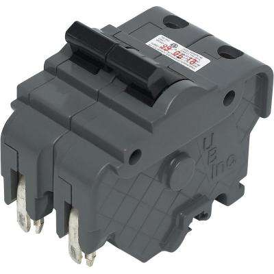 New UBIF Thick 15 Amp 2 in. 2-Pole Federal Pacific Stab-Lok Type NA Replacement Circuit Breaker